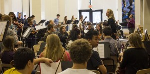 Student musicians' POPS concert finale mass rehearsal goes smoothly
