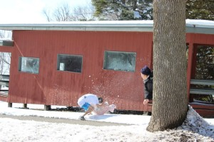 Juniors make best of weather at retreat