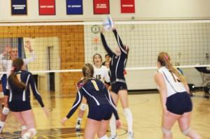 Gallery: Girls Varsity Volleyball hosts Dig Pink night