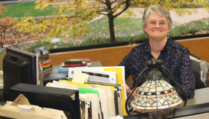 Library assistant Vicki Janisch-Tri brings joy to students and the community