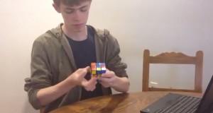 Video: Sophomore Joel Tibbetts solves a Rubik's Cube in a minute