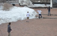 As snow melts, students enjoy warmer weather