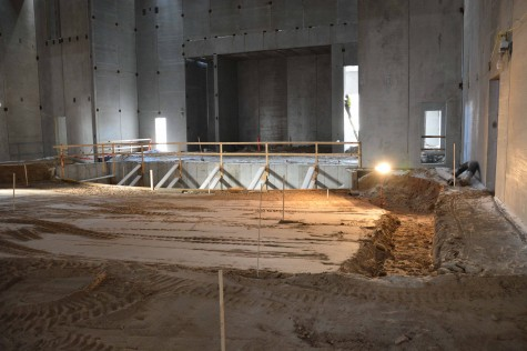 The new stage will have an orchestra pit that can also be converted into more stage space.