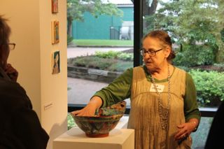 Wark contributes cheerful ceramics to Alum Art Show