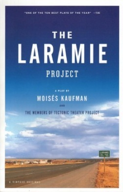 """The Laramie Project will be the first Upper School play on the Huss Center stage. """"It's a unique space that we will get to play around with,"""" freshman Max Moen said."""