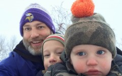 Peterson revisits youth through basketball and sledding