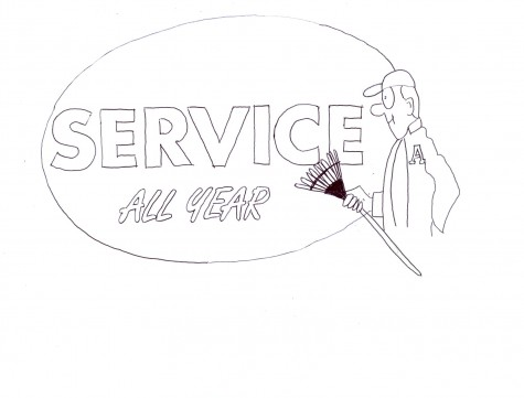 Service should be woven into daily schedule