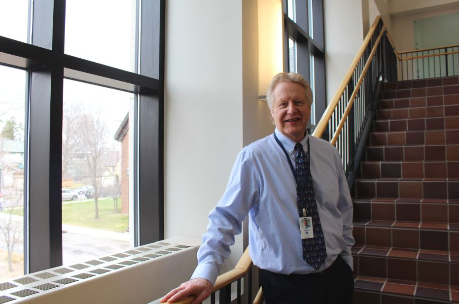 """Director of Operations Mark Dickinson joined the St. Paul Academy and Summit School Business office this spring. """"We need to support both the teachers and the students. I've always thought of the operations and security as the stage hands of a theatre,"""" Dickinson said."""