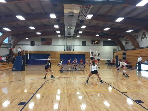 Girls Varsity Volleyball falls to St.Croix after three sets