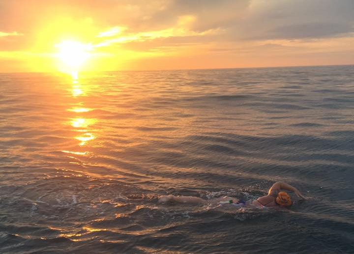 Caellach Gibbons, class of 2012, completed the English Channel Swim in July.