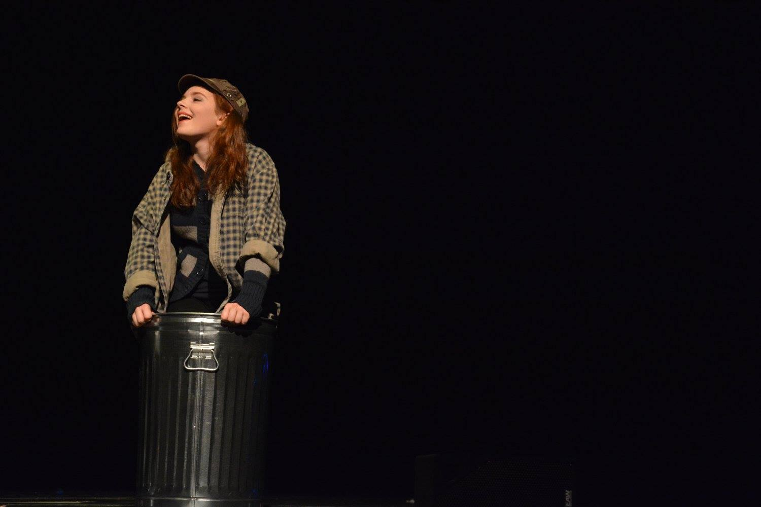 Sophomore+Chloe+Morse+performs+as+an+actress+within+an+oddly+constructed+play+in+the+One+Acts+on+Jan.+27.+