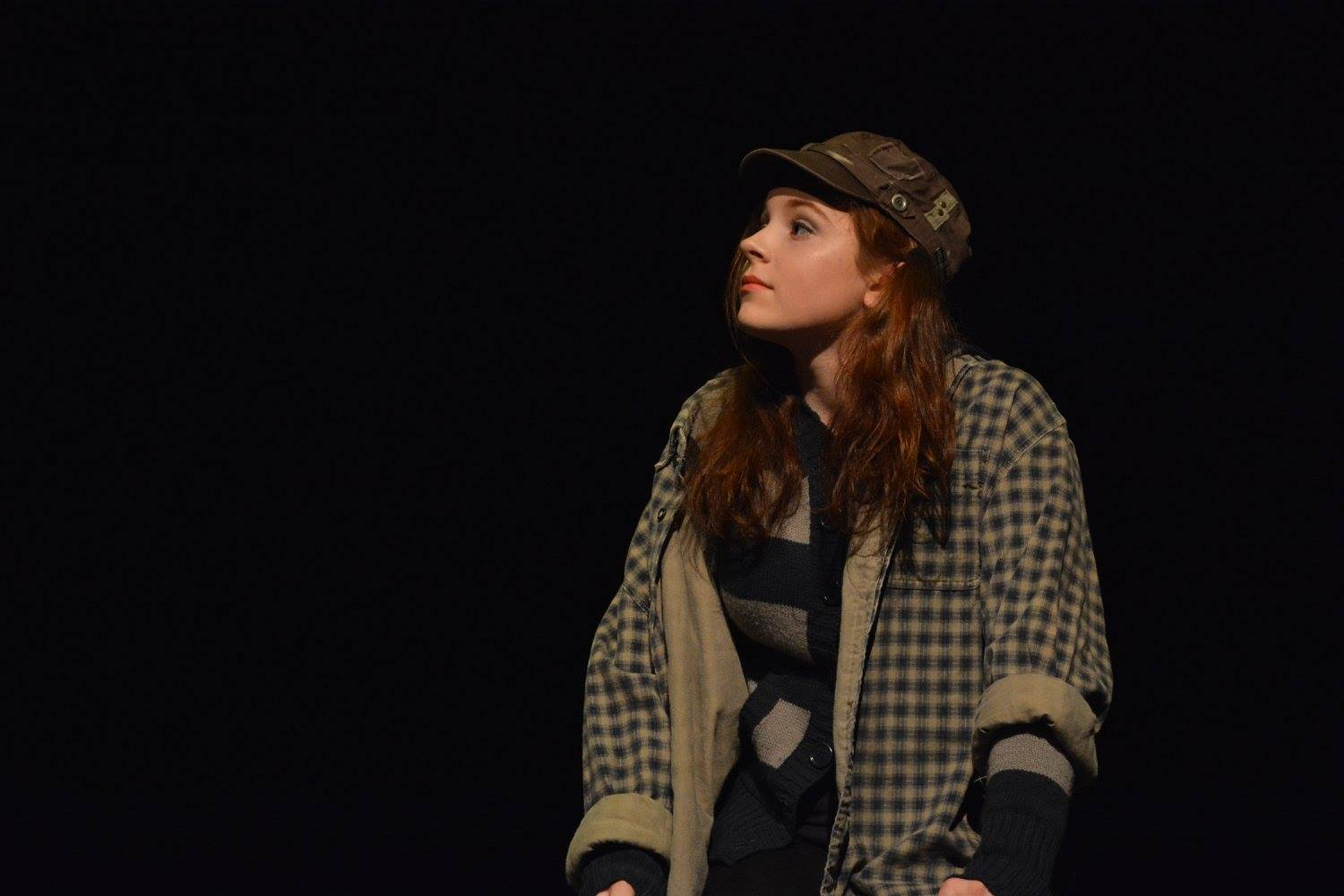 Sophomore+Chloe+Morse+portrays+an+oddly+descriptive+actress+in+the+One+Acts+on+Jan.+27.