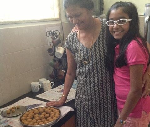 9th grader Ananya Narayan enjoys her family's recipes that have been passed down with each generation. Her family traditionally makes ladoo, an Indian dish.
