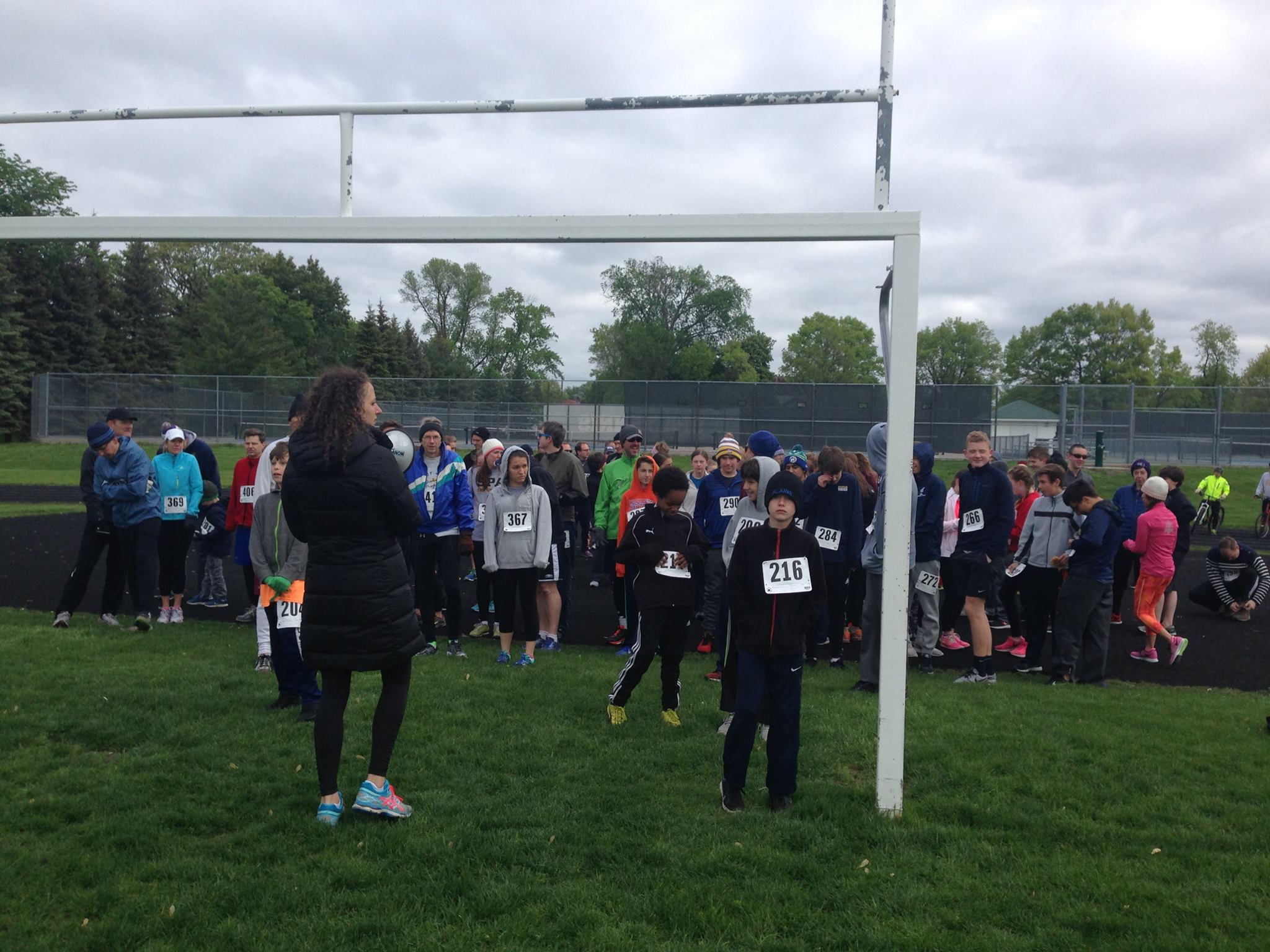 Anderson stands at the starting line of the SPA 5k run/ walk last year.