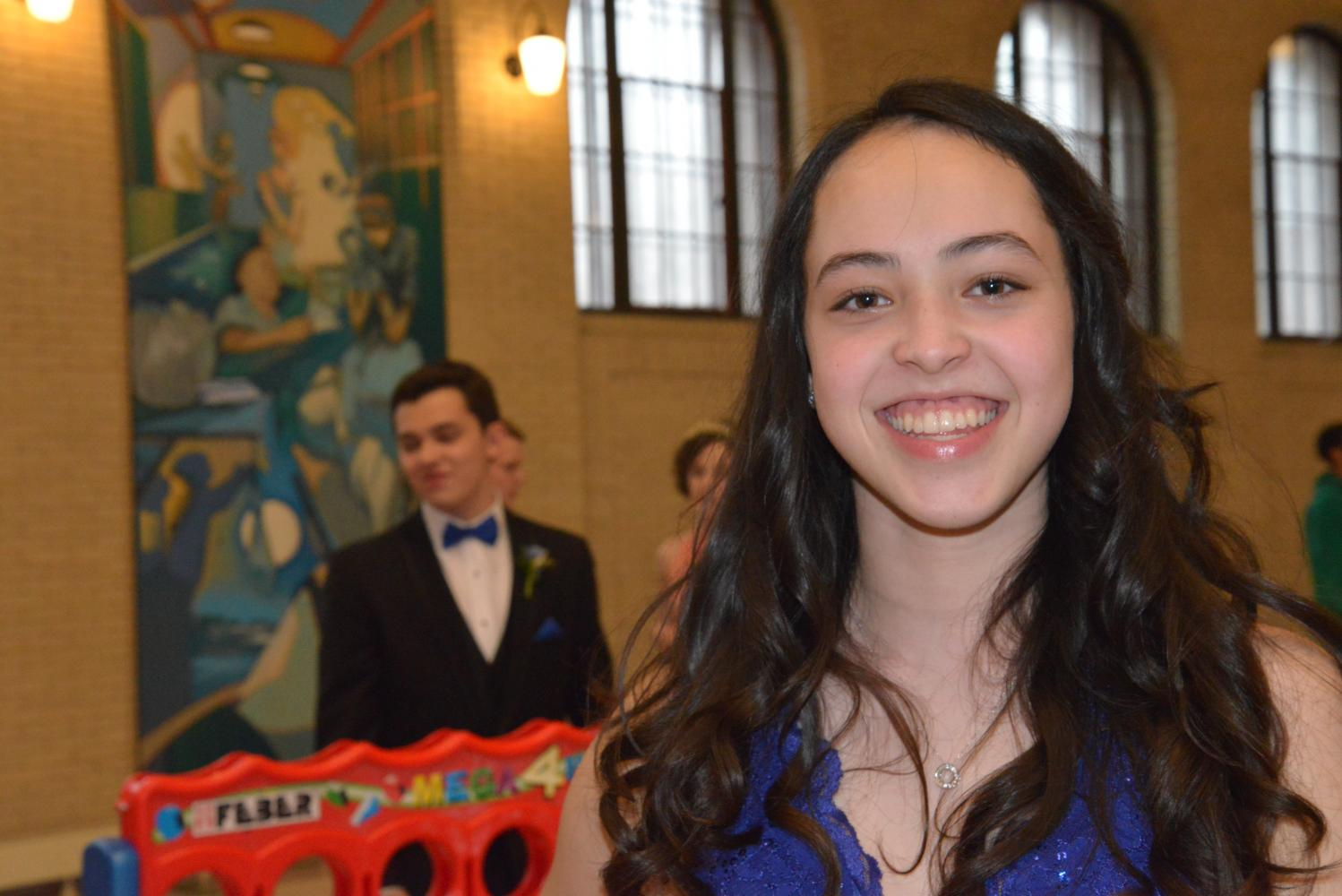 Junior Maya Shrestha wore her hair in soft curls to prom when she was in 9th grade.