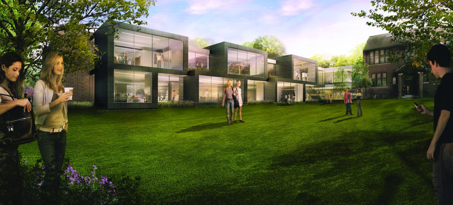 An Artist's rendering of what the New Schilling center will look like