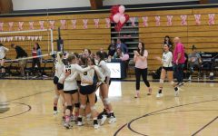 Volleyball fundraises for breast cancer during Dig Pink rally