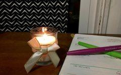 DIY candles light up exams or holiday season