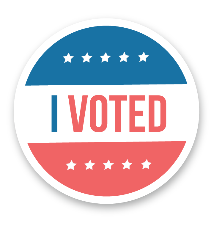 It's just a picture of Sizzling I Voted Stickers Printable