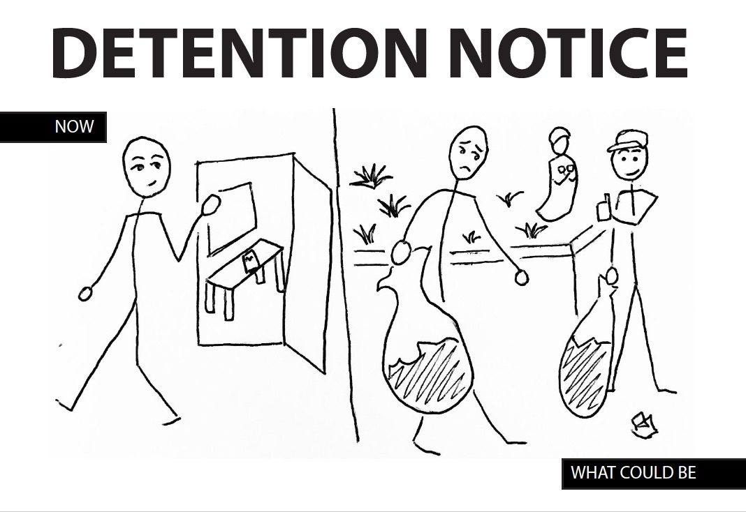 The detention system needs to provide a stiffer punishment for offenders.
