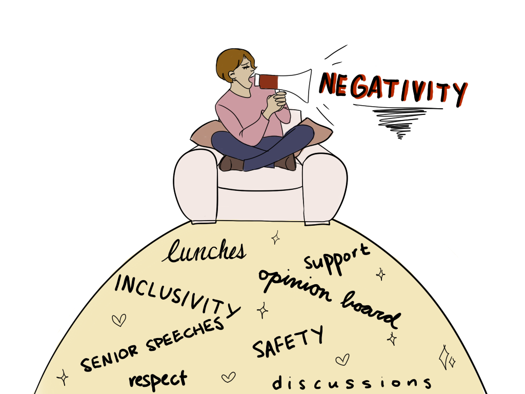 Negativity can overshadow all the great opportunities we have at a school like SPA.