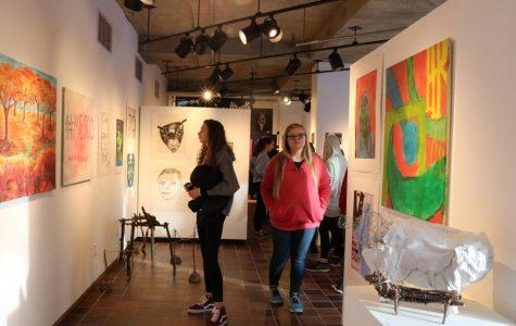 Fall semester art work showcased in winter student show
