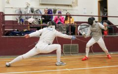 Fencing team loses overall while men's foil is victorious