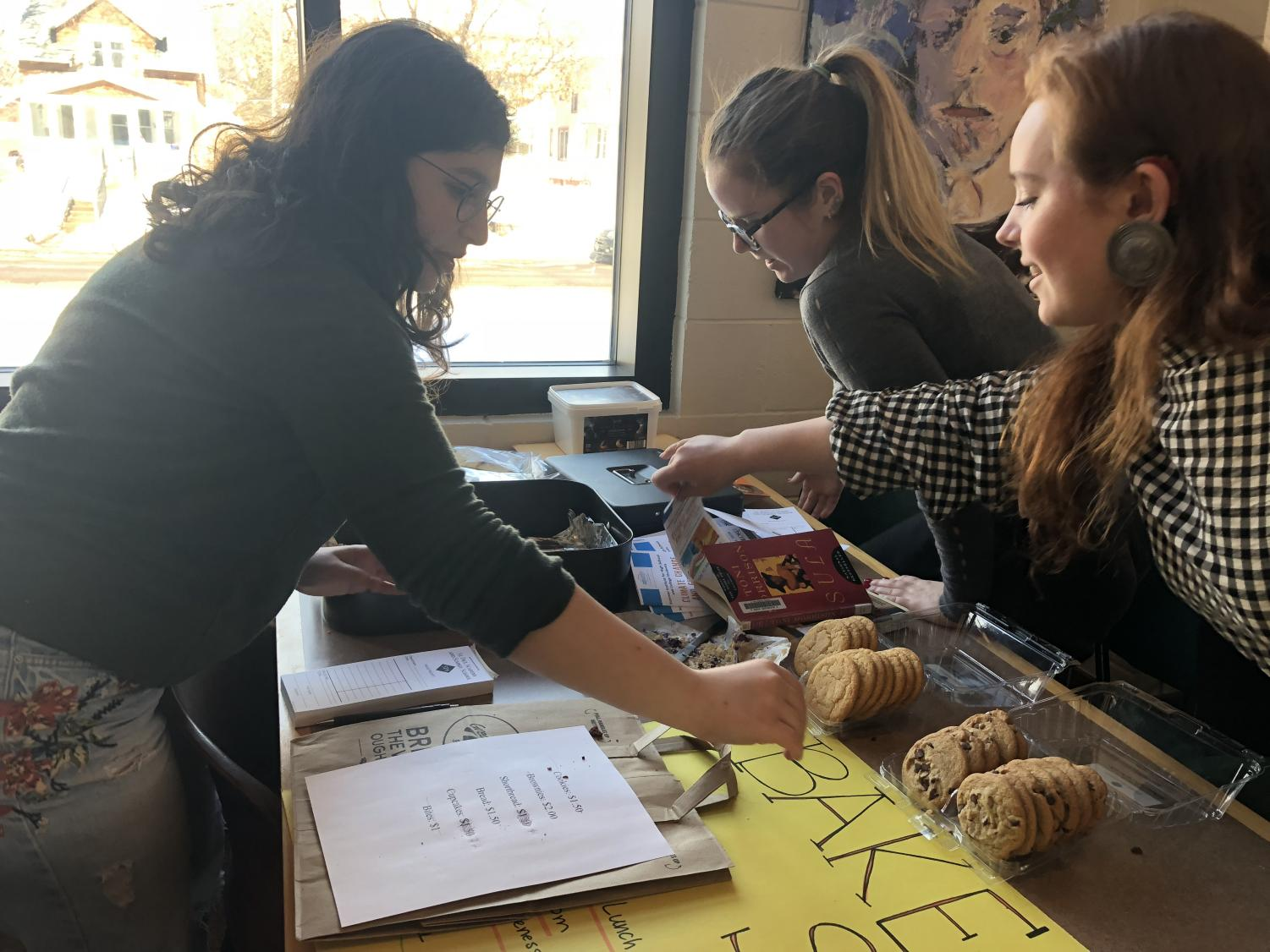 Students for Social Justice hosted a bake sale on Feb. 27 with all proceeds going to World Without Genocide.