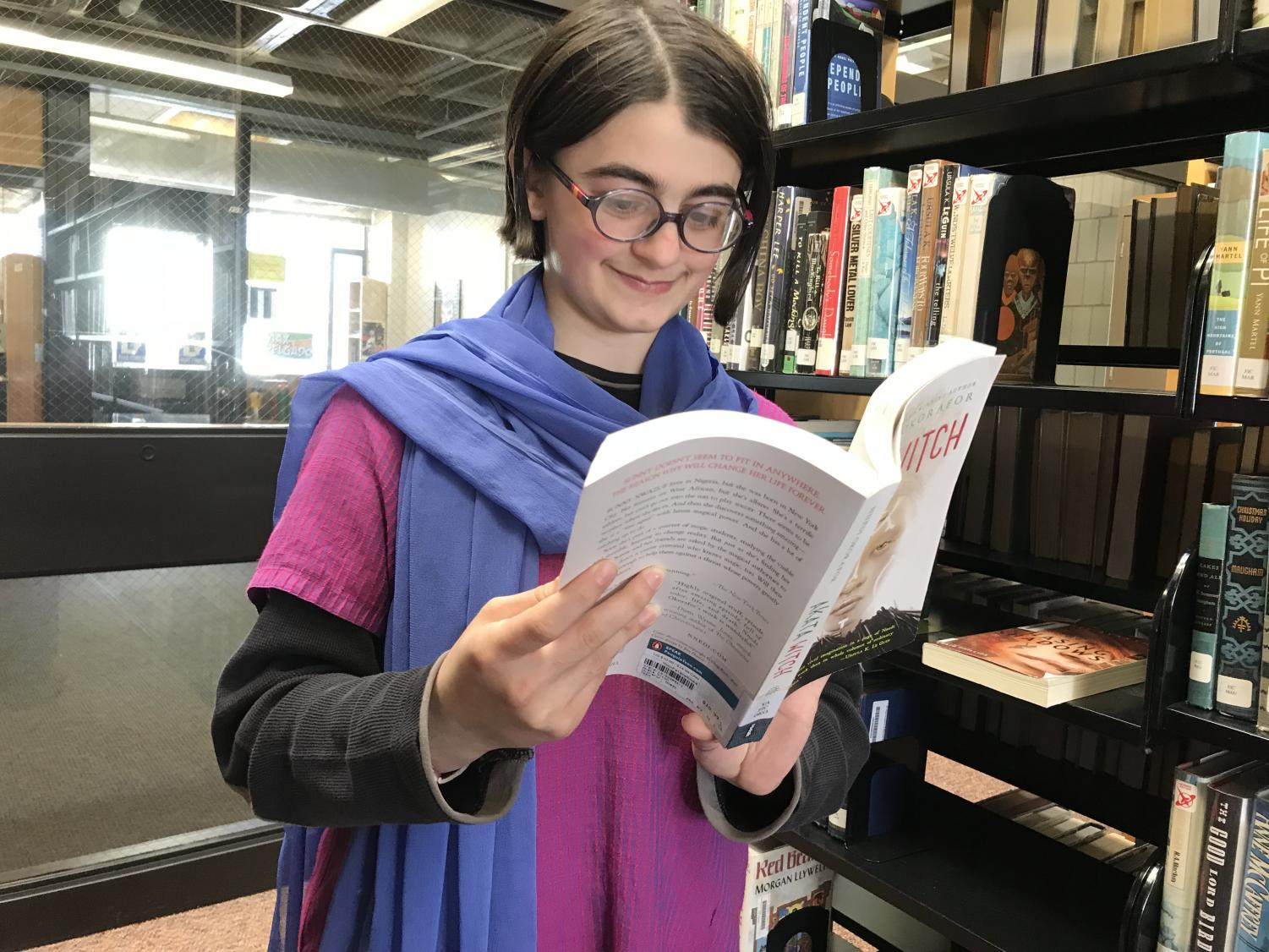 Sophomore Savita Asvathi-Yopp recommends books that expand one's cultural perspectives.