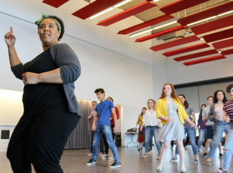 Parham excites students with Latin dance