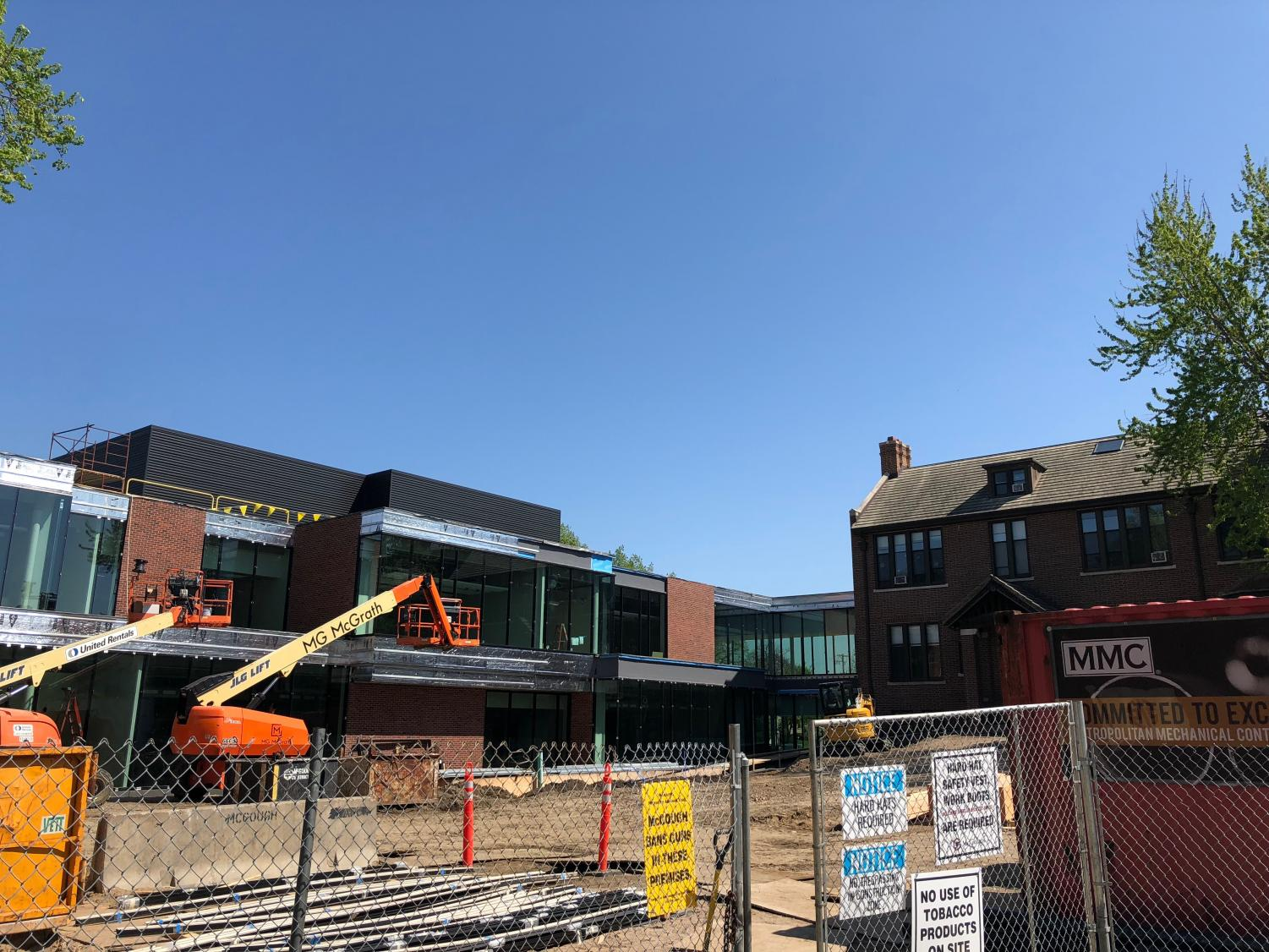 "As the construction on the Schilling Center wraps up, the next phase -- the Upper School renovation -- begins. Ninth grader Eli Conrad-Wovcha said, ""I'm excited and all, but I don't know how I'll ever find where all my classes are next year."""