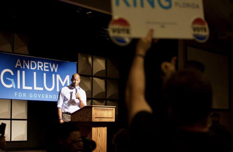 Gillum+encourages+Florida+citizens+to+vote.+