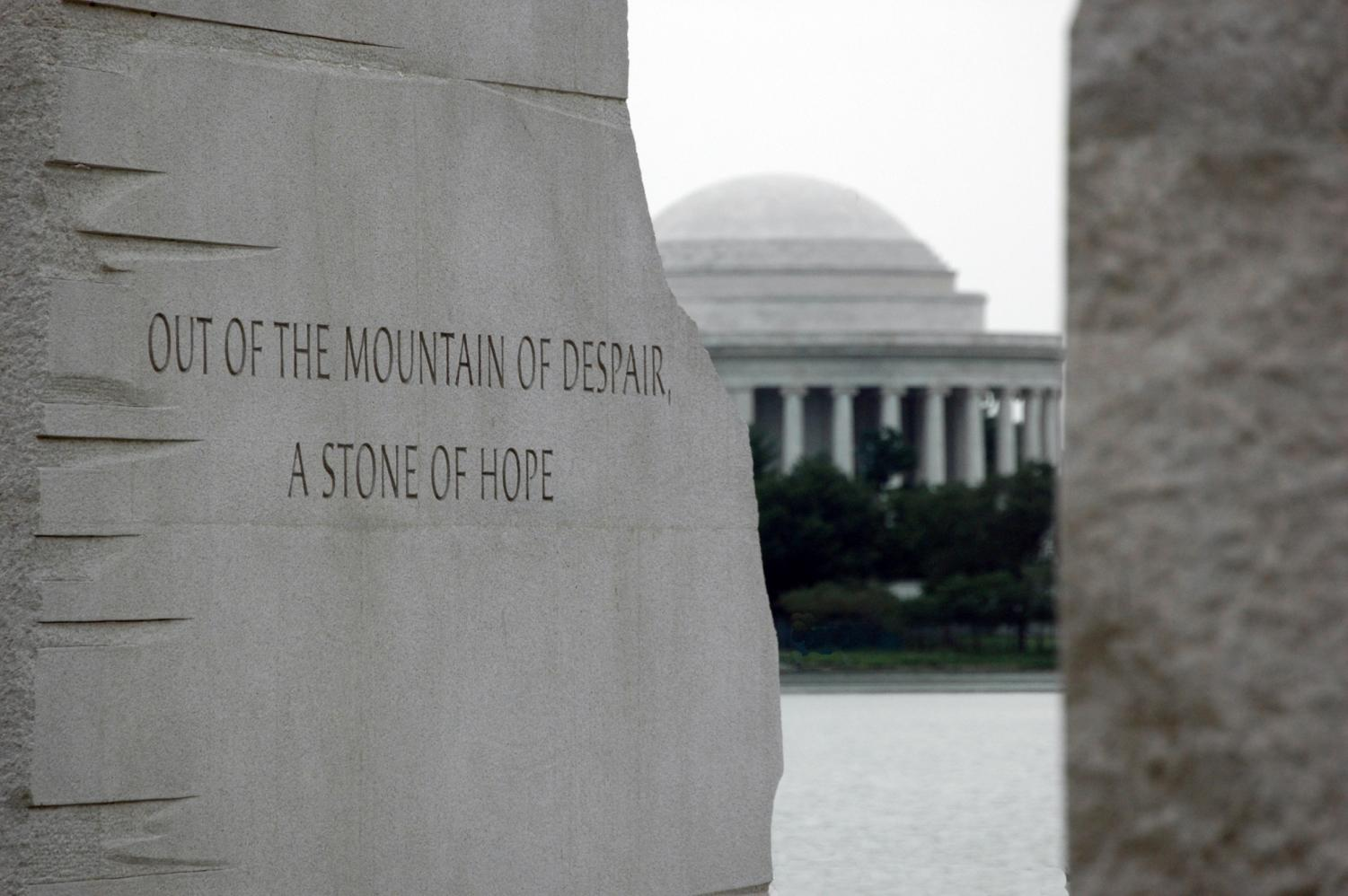 The the Martin Luther King, Jr. memorial in Washington, D.C.