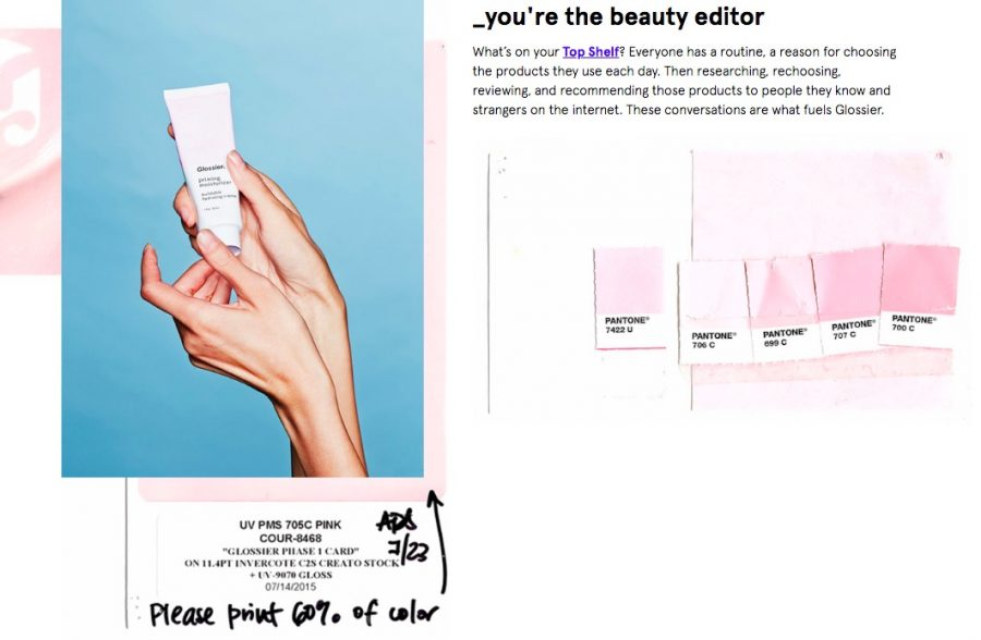On+Glossier%27s+%22About%22+page%2C+the+company+asserts+that+%22We+don%E2%80%99t+believe+beauty+is+made+in+a+boardroom%E2%80%94it+happens+when+you+get+involved.%22
