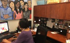 [WHAT'S ON MY DESK?] Dye showcases student work throughout her office