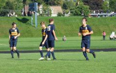 Boys varsity soccer defeats Trinity