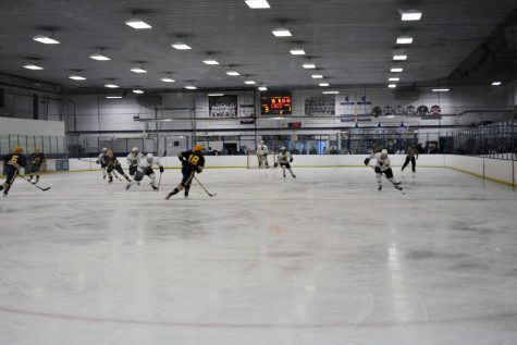 Boys hockey team wins home opener against Bloomington Kennedy