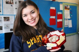 Senior Gina Nguyen displays classic Vietnamese New Year food.