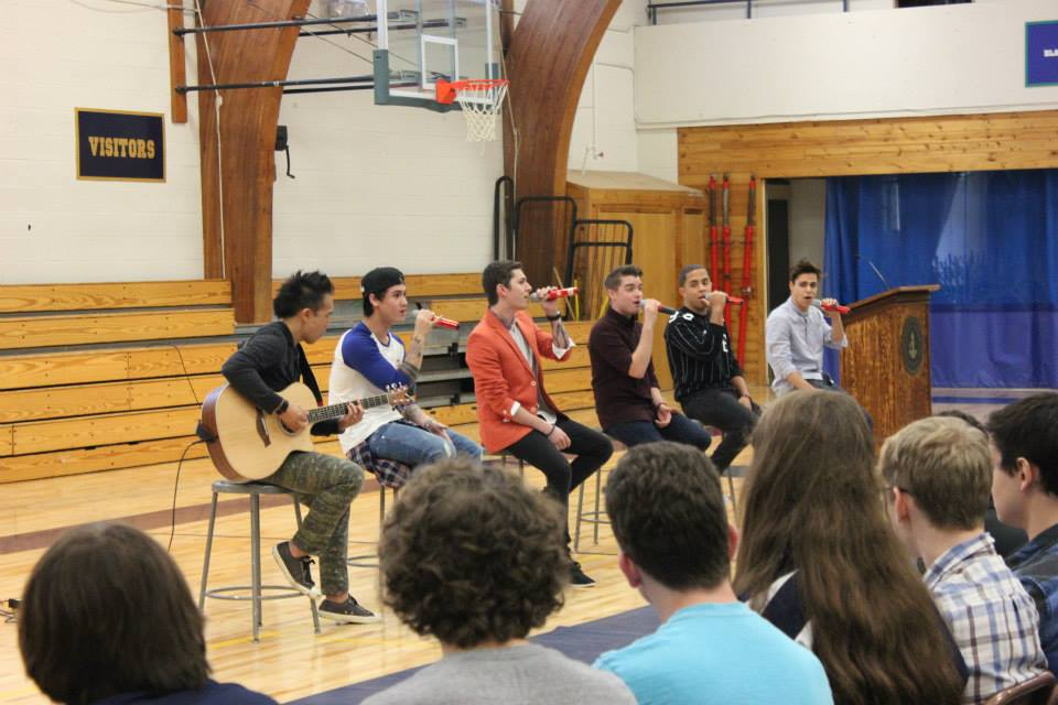 Midnight Red performs during the Homecoming Kickoff assembly.
