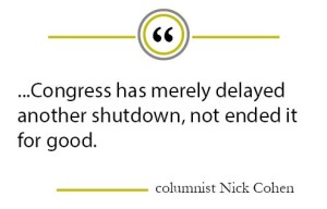 Column: Government returns after shutdown… at least for now