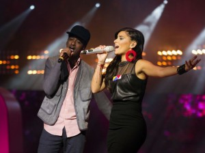 Singers Nelly Furtado and K'naan perform at We Day Toronto in 2012, one of the many events around the world.