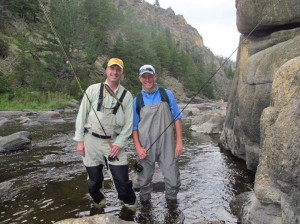 "Senior Nick Hoffmann and his father Chris Hoffmann go fly fishing regularly. ""I really enjoy fishing with my dad because every time I go with him he teaches me something new about fishing...,"