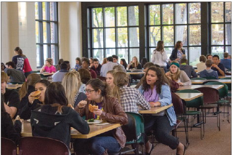 "On most days, SPA students sit with a familiar group of friends. ""If this lunch blossoms even one relationship, it will have been a success,"" SCLC member Frank Nahurski said."