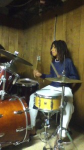 Freshman Lutalo Jones dreams of drumming