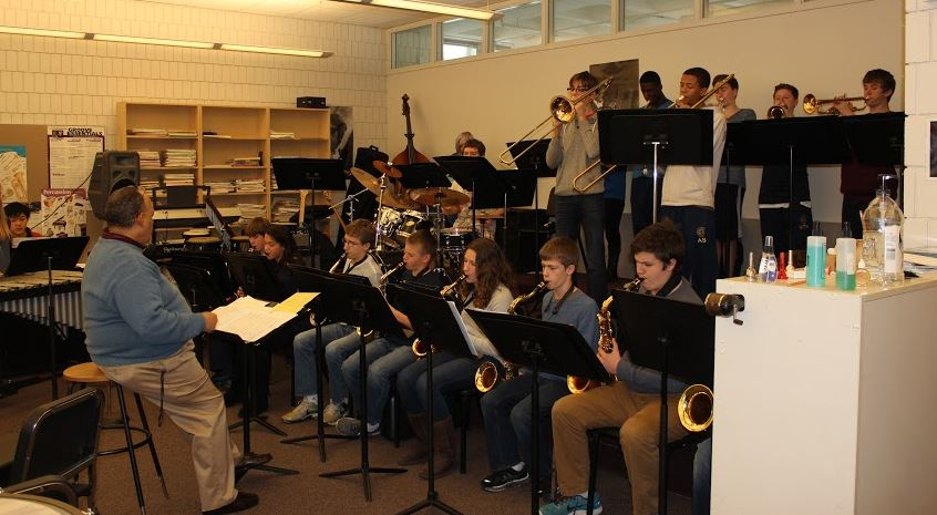 The Blue Band rehearses the week before the Pops Concert.