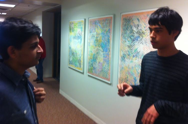 Seniors Steven Go-Rosenberg (right) and Bilal Askari (left) discuss immigration.