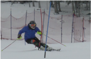 "Freshman John Soranno trains at Echo Mountain Park, Colorado. ""My favorite thing about skiing is the feeling [going down slopes] in a course and feeling all the things that I have been working on in skiing over the past year come together,"" Soranno said."