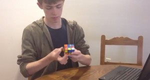 Video: Sophomore Joel Tibbetts solves a Rubik's Cube in a minute