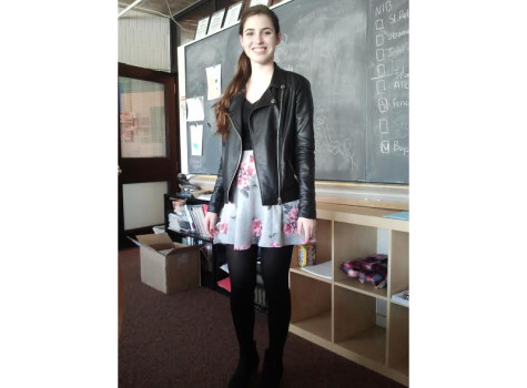 Sophomore Caroline Montague wears a circle skirt.