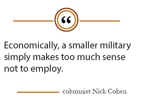 Column: Downsizing the military would bring financial benefits